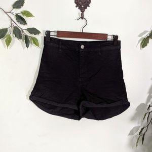 Divided Black High-Waisted Shorts